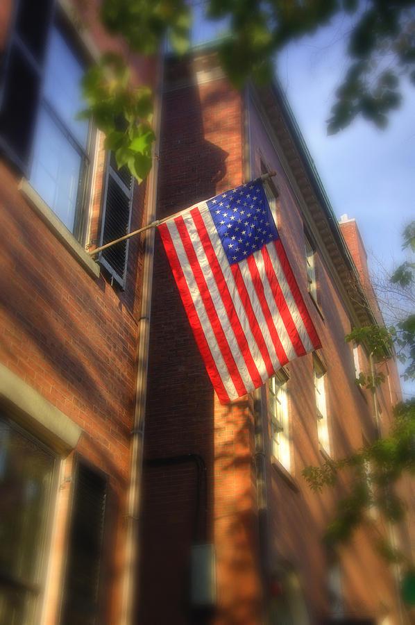 Beacon Hill Photograph - Sun Kissed Flag by Joann Vitali