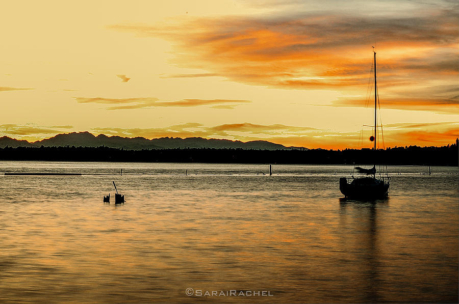 Lake Washington Photograph - Sun Kissed Sky by Sarai Rachel