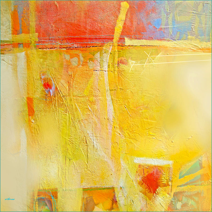 Abstract Painting - Sun On Wall by Dale  Witherow