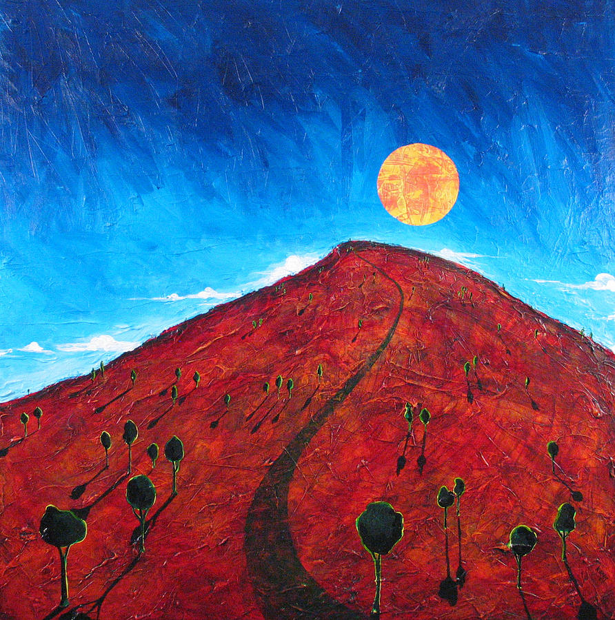 Landscape Painting - Sun Over Red Hill by Rollin Kocsis