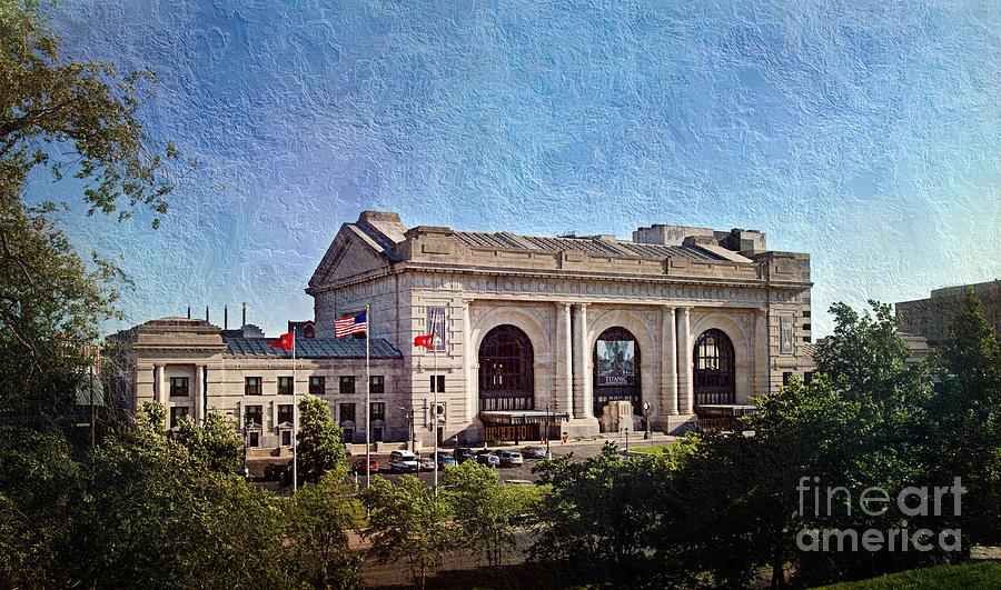 Kansas City Photograph - Sun Rising On Union Station In Kansas City Tv by Andee Design