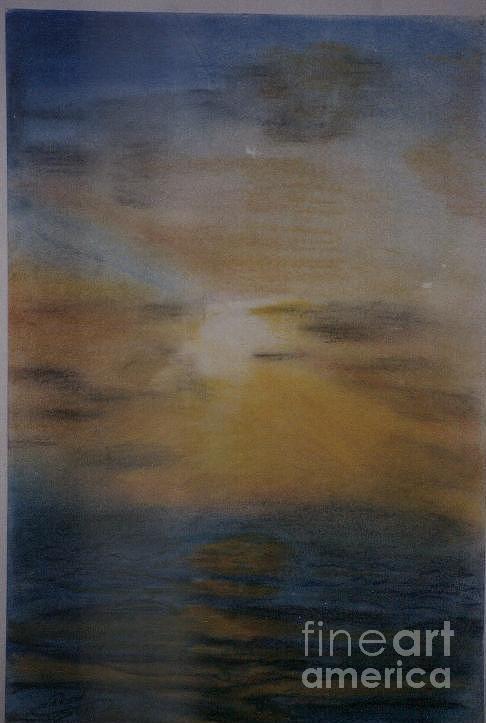 Landscape Pastel - Sun Set by Nahed Ismaeil