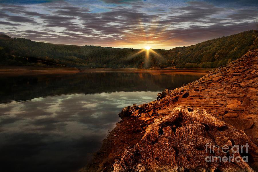 Bamford Photograph - Sun Set Water by Nigel Hatton