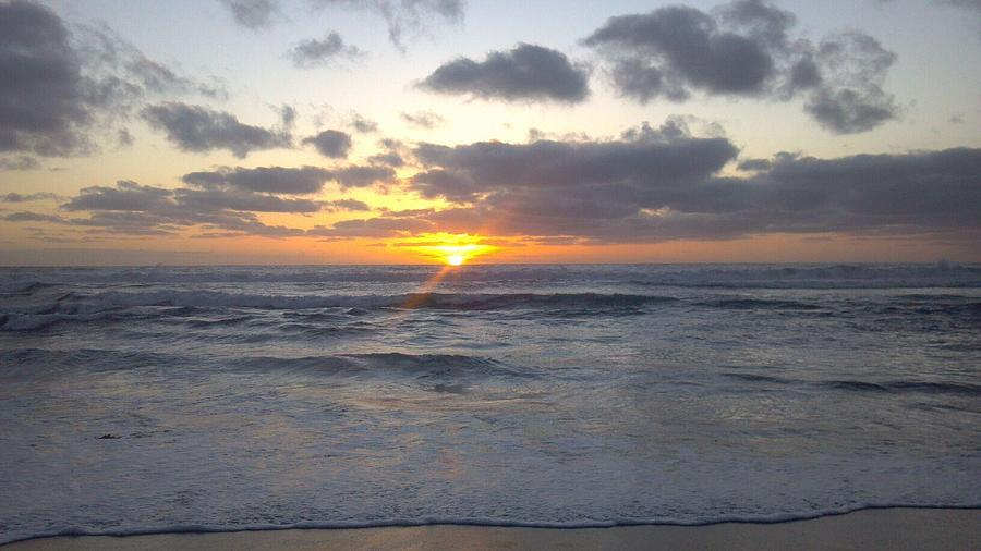 Sunset Photograph - Sun Setting In Socal by Anthony Anderson