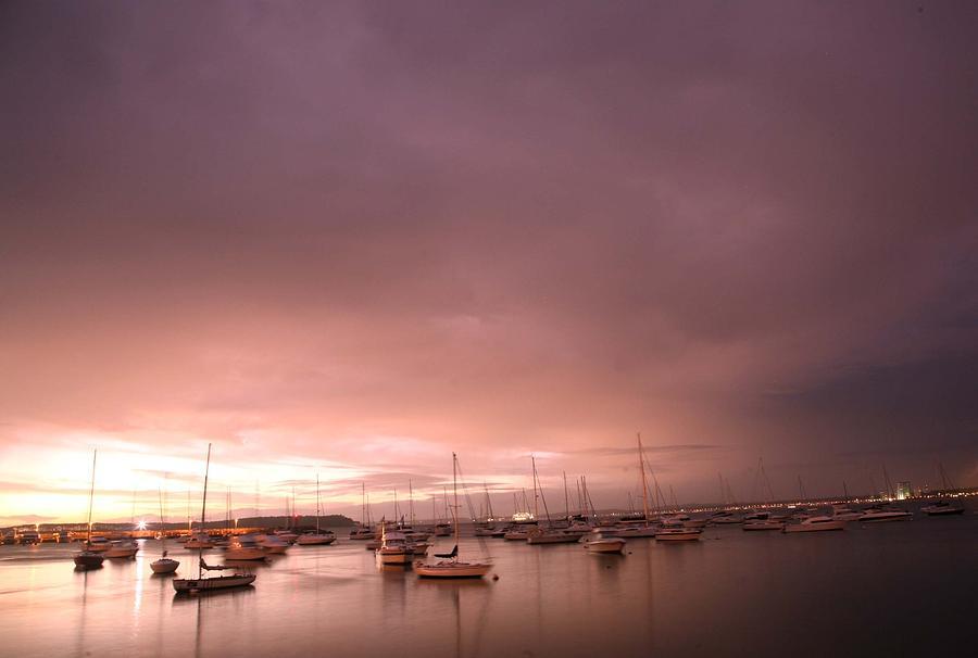 sun Sun set at Punta del Este bay Photograph by Pablo  De Loy