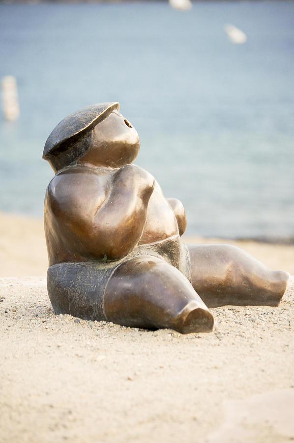 Bronze Photograph - Sunbather No.1 by Marina Garrison