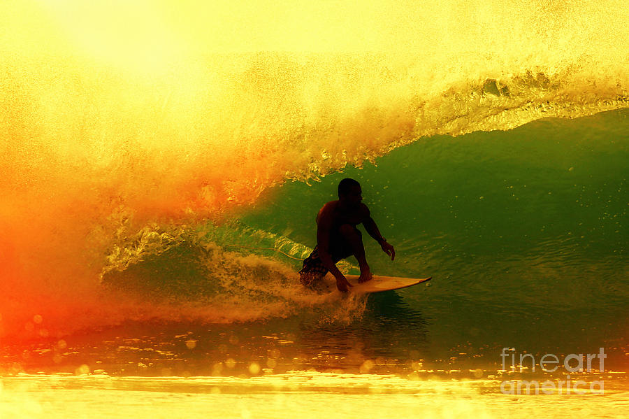 Surfing Photograph - Sunburn by Paul Topp