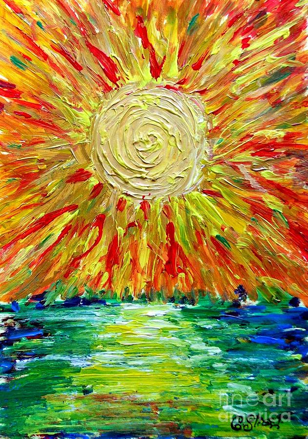 Sunburst Painting By Caroline Street