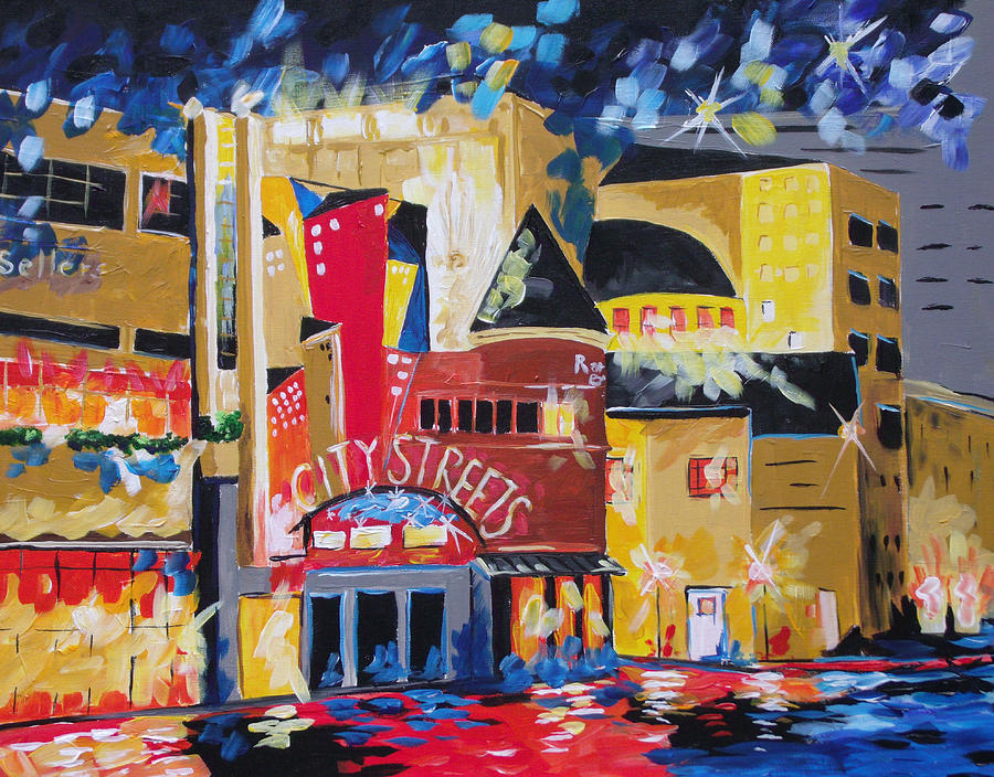 Sundance square fort worth painting by barbara sudik for T shirt printing fort worth