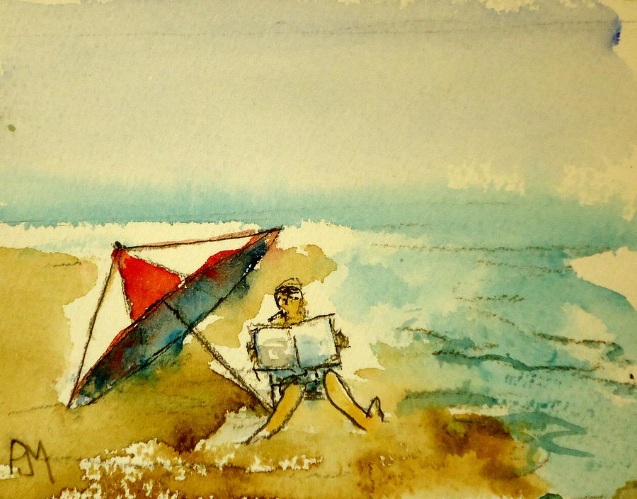 Beach Painting - Sunday Mornin by Pete Maier