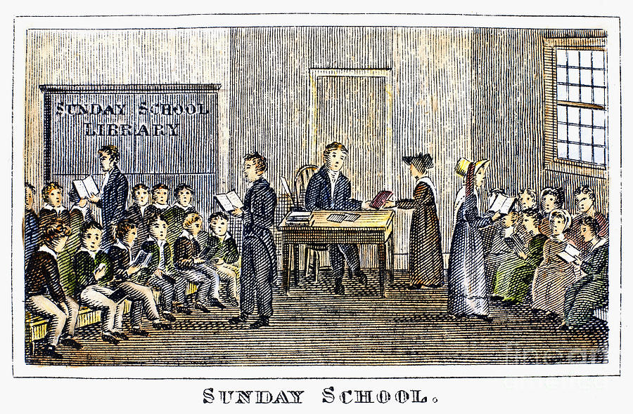 1832 Photograph - Sunday School, 1832 by Granger