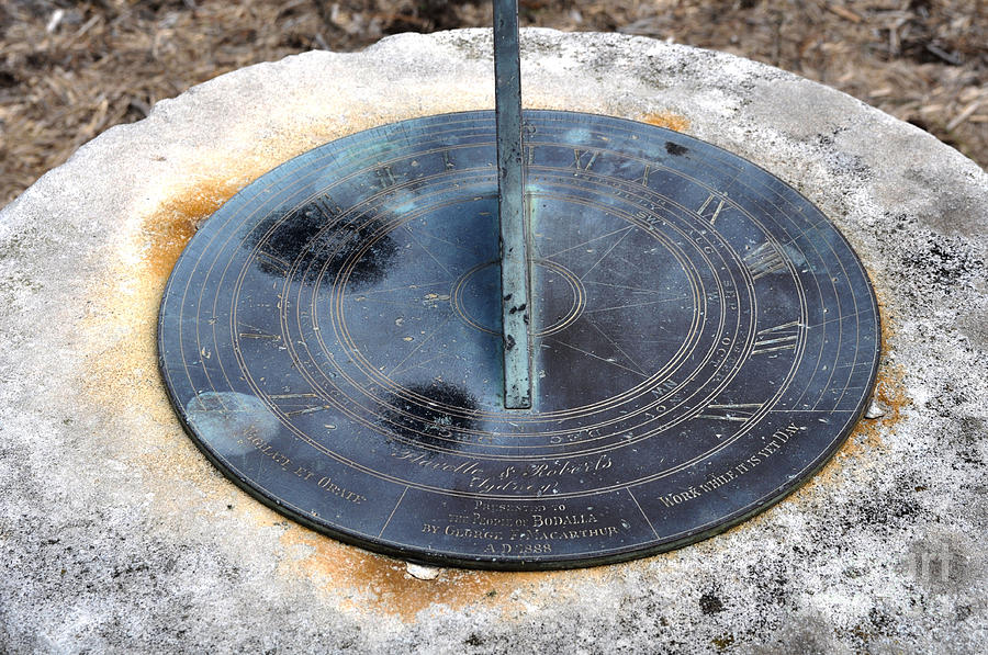 Sundial Photograph - Sundial by Joanne Kocwin