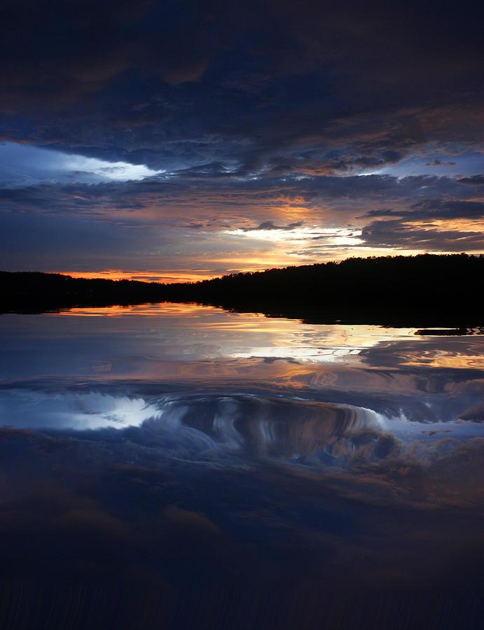 Landscape Photograph - Sundown At Lake by Rick Friedle