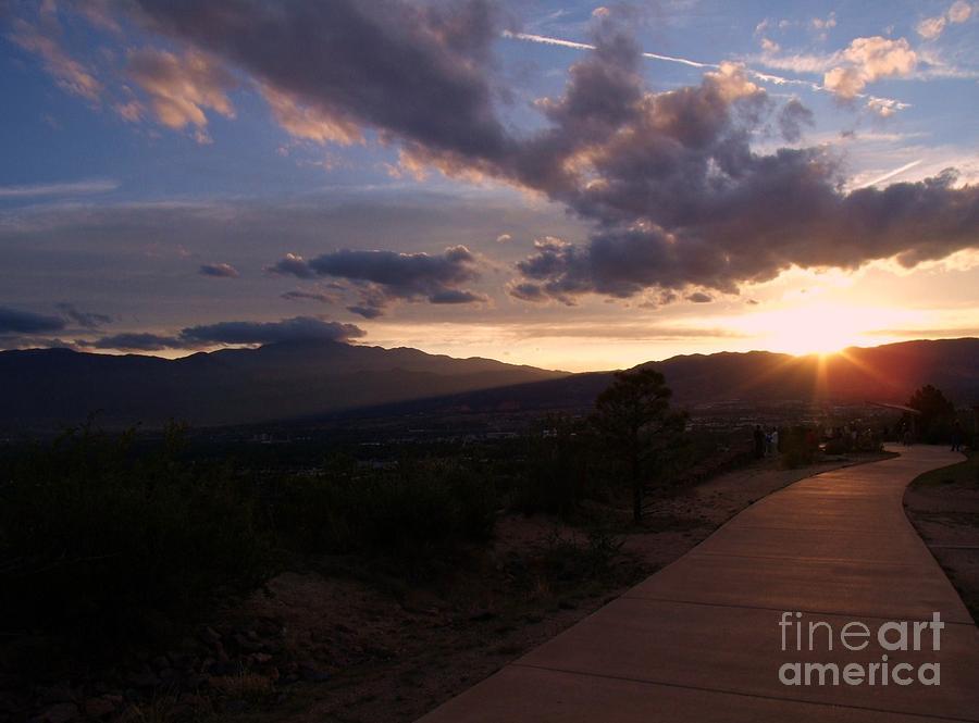 Sunset Photograph - Sundown by Donna Parlow