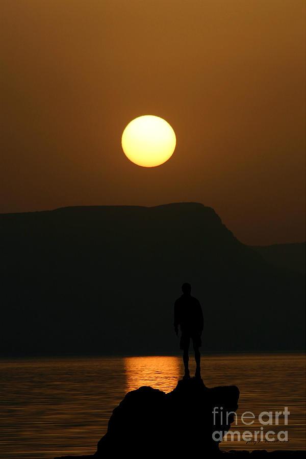 Sundown Mixed Media - Sundown Silhouette by Jerry L Barrett
