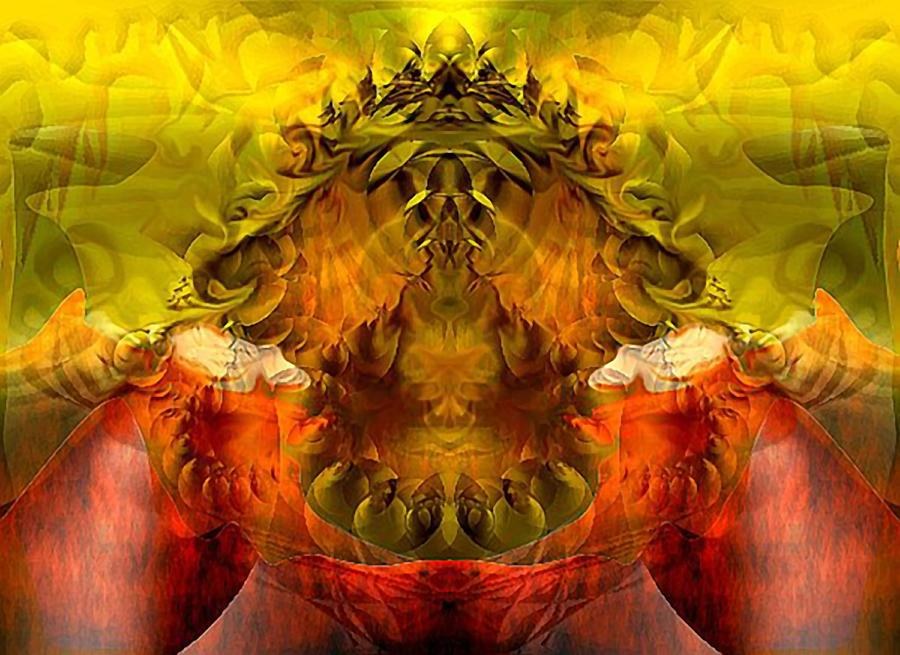 Abstract Digital Art - Sunflower by Dave Kwinter
