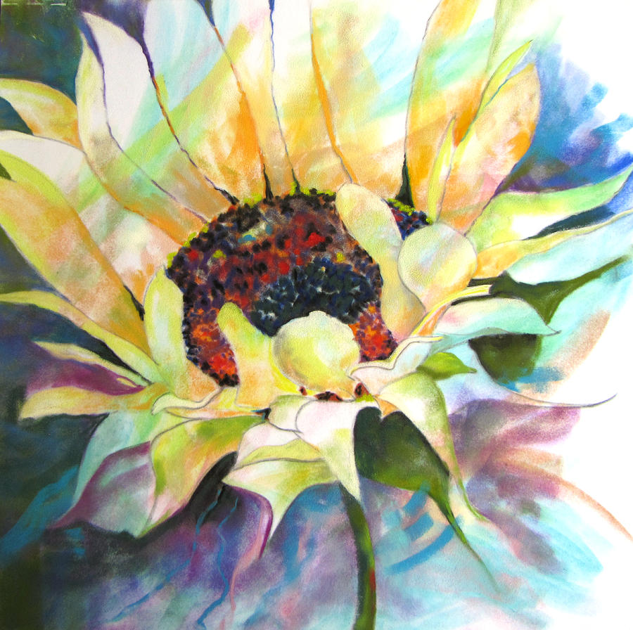 Sunflower Painting - Sunflower IIi by Vicki Brevell