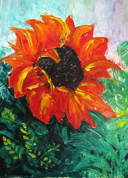 Sunflower Painting - Sunflower by Jenell Richards
