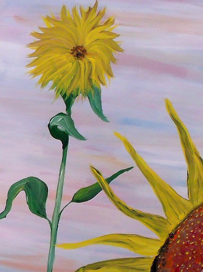 Mark Painting - Sunflower by Mark Moore