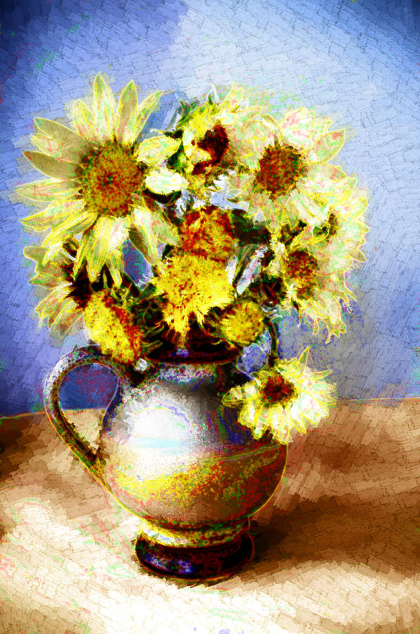 Sunflowers Digital Art - Sunflowers by Heiko Mahr