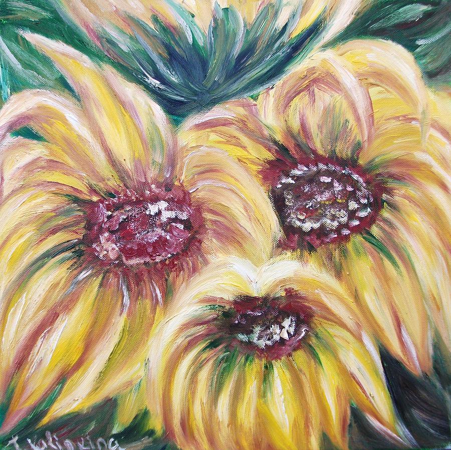 Floral Painting - Sunflowers by Irina Kalinkina