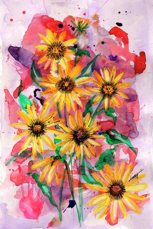 Sunflowers Painting - Sunflowers by Linda Palmer