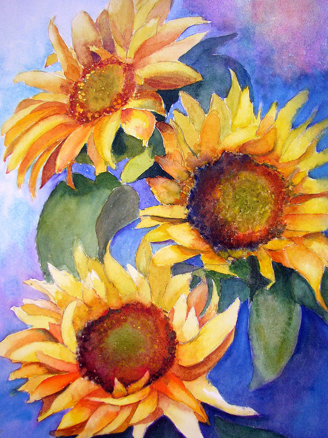 Sunflowers Painting - Sunflowers by Lori Chase