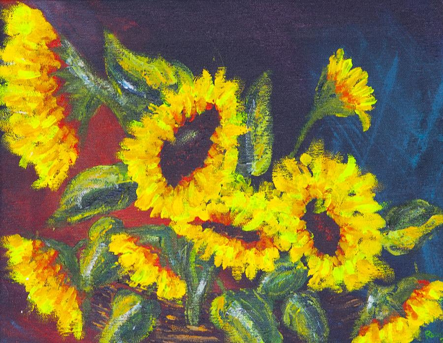 Sunflowers Painting - Sunflowers by Robin Lee