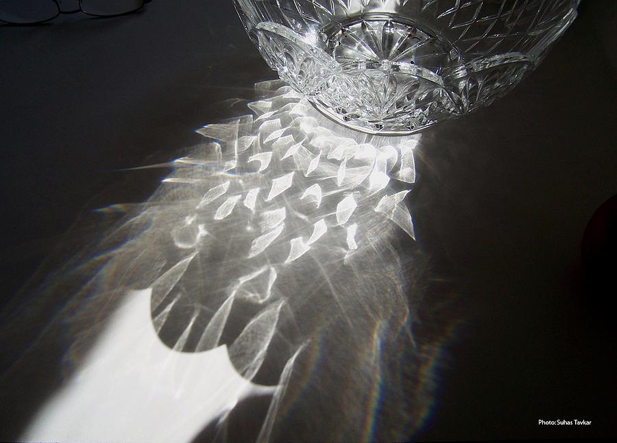 Sunlight On Crystal Bowl Relief by Suhas Tavkar