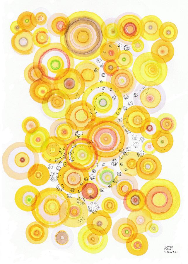 Happy Drawing - Sunlight Ripples by Regina Valluzzi