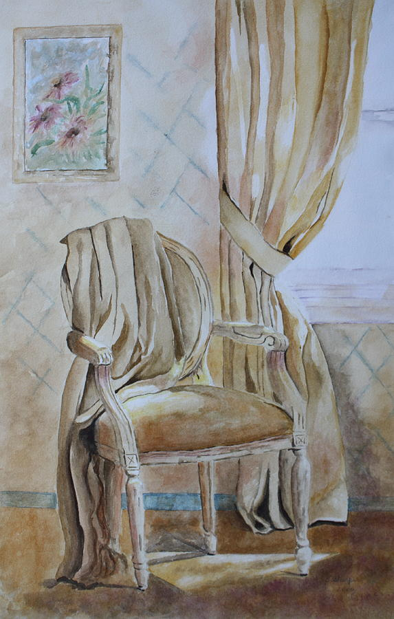 Chair Painting - Sunlit Afternoon  by Patsy Sharpe