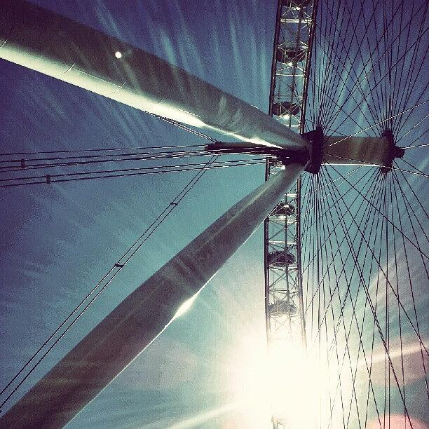 England Photograph - Sunnd Day In London, London Eye by Abdelrahman Alawwad