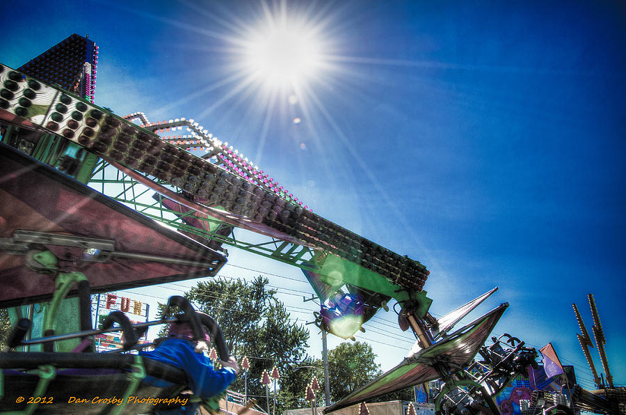 Sky Photograph - Sunny At The Fair by Dan Crosby