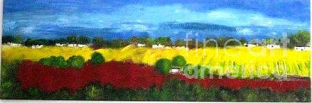 Sunny Fields Painting by Michelle Mettler