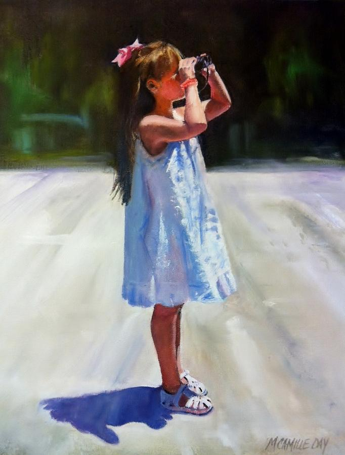 Portrait Painting - Sunny Outlook by Camille Day