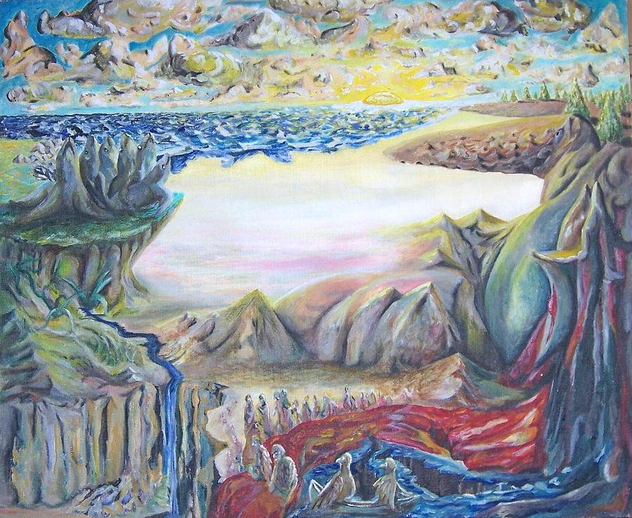 Surrealism Painting - Sunny Side Up Down The River by Timothy  Foley