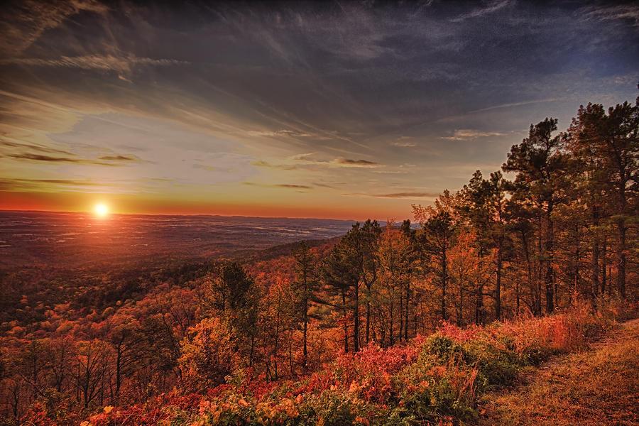 Sunrise Photograph - Sunrise 2-talimena Scenic Drive Arkansas by Douglas Barnard