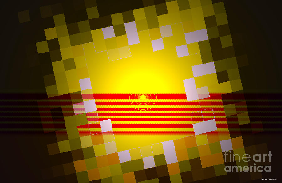Sunrise Abstract Digital Painting  Painting by Heinz G Mielke