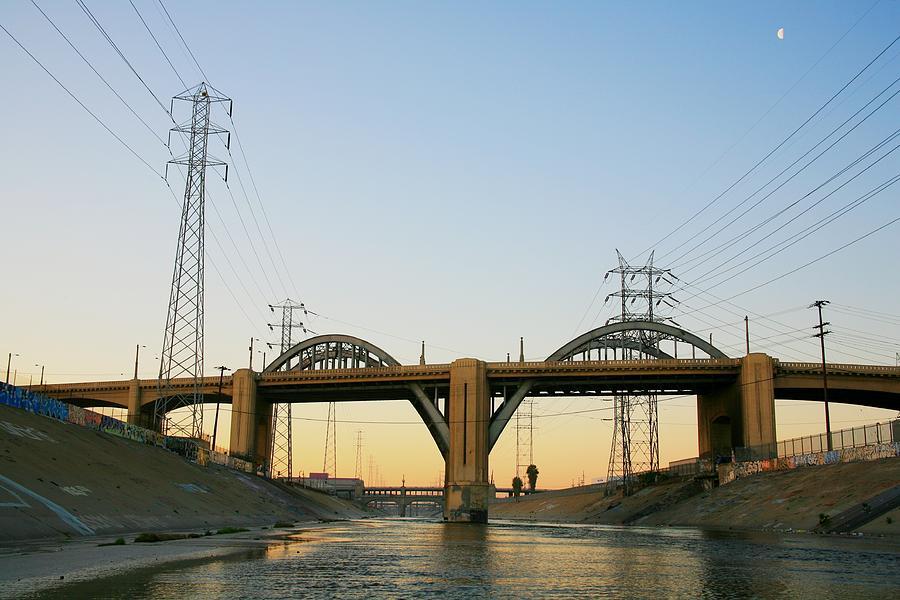Bridge Photograph - Sunrise At 6th Street Bridge by Kevin  Break