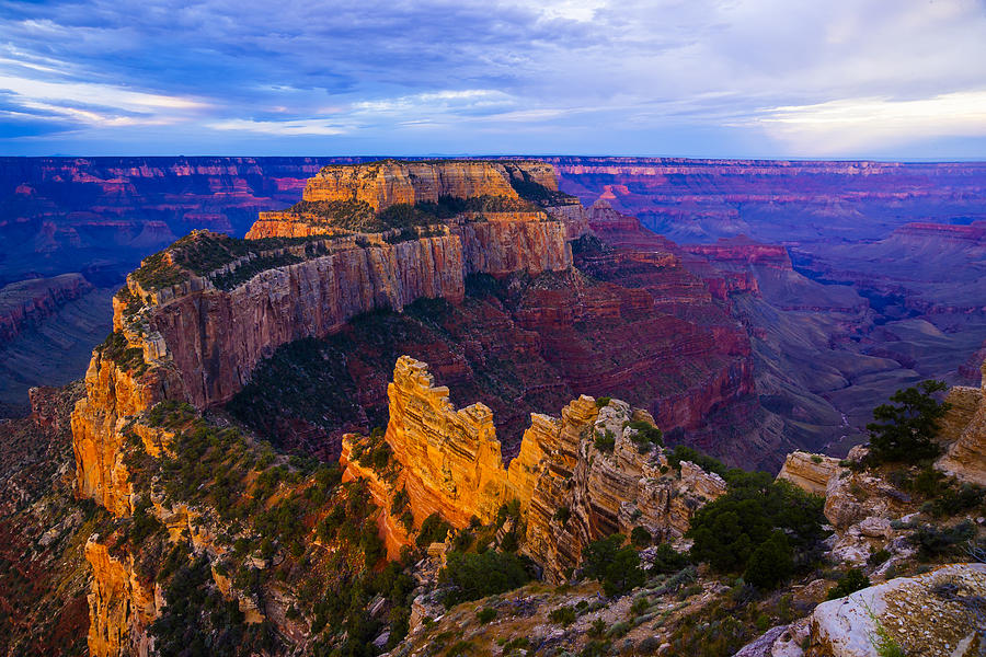 Sunrise Photograph - Sunrise At Cape Royal Grand Canyon by John Reckleff
