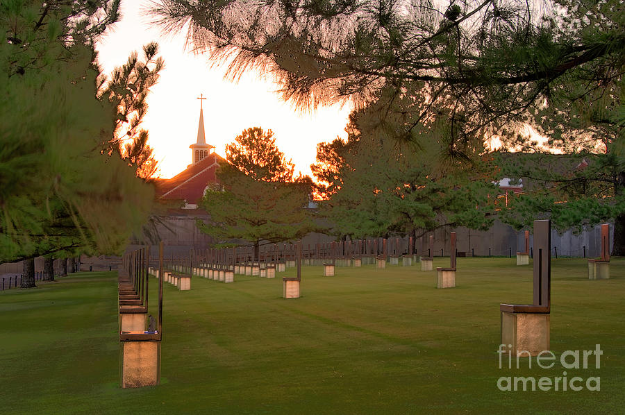 Sunrise Photograph - Sunrise At The Alfred P Murrah Memorial II by Tamyra Ayles