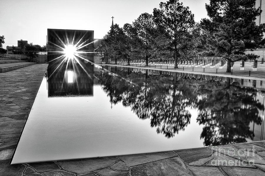 Sunrise Photograph - Sunrise At The Alfred P Murrah Memorial by Tamyra Ayles