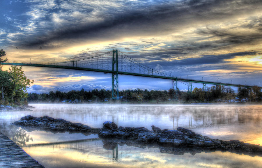Sunrise Digital Art - Sunrise At The Bridge by Sharon Batdorf