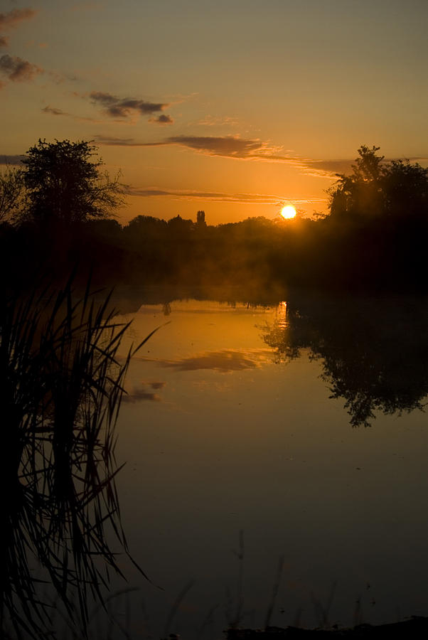 Sunrise Photograph - Sunrise By A Lake by Pixie Copley