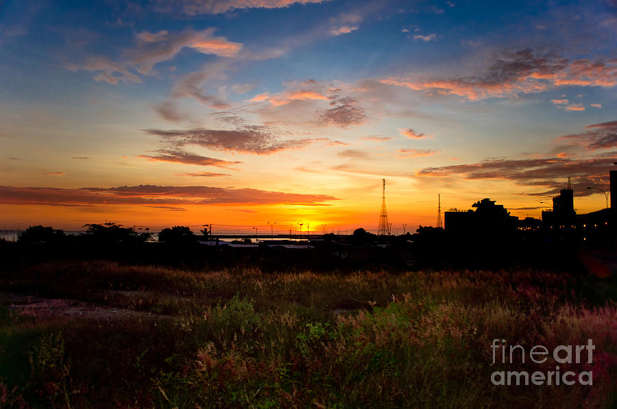 Sunrise Pyrography - Sunrise by Hector Lozano