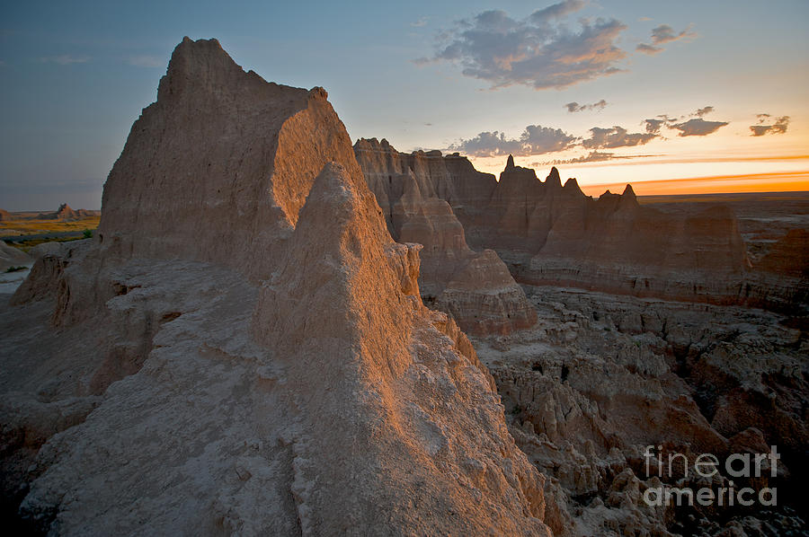 Badlands National Park Photograph - Sunrise In Badlands by Chris Brewington Photography LLC