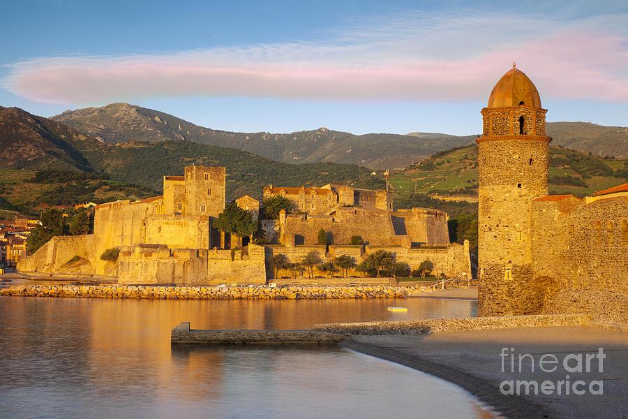 Beach Photograph - Sunrise In Collioure by Brian Jannsen