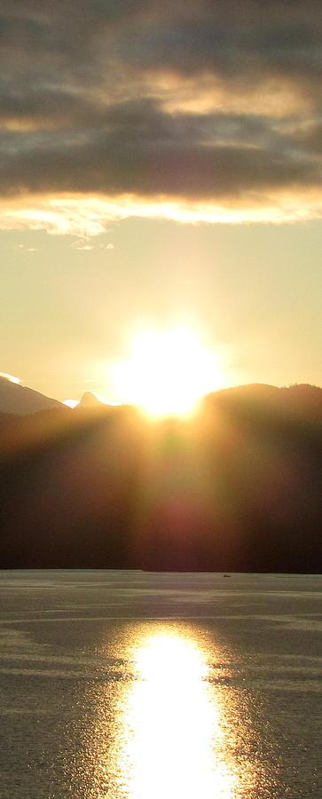 Sunrise In The Fjord Photograph by Judy Garrett