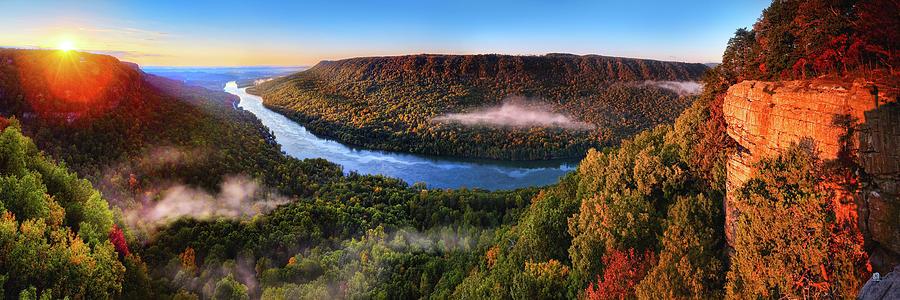 Sunrise Photograph - Sunrise In The Gorge by Steven Llorca