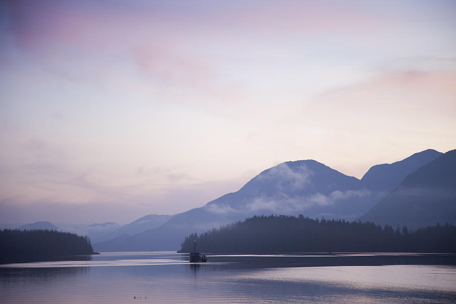 British Columbia Photograph - Sunrise In The Great Bear Rainforest by Taylor S. Kennedy